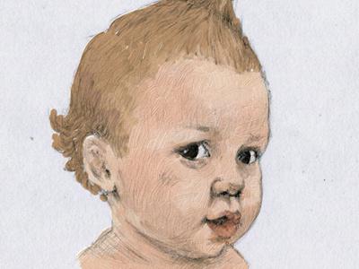 baby hand drawn
