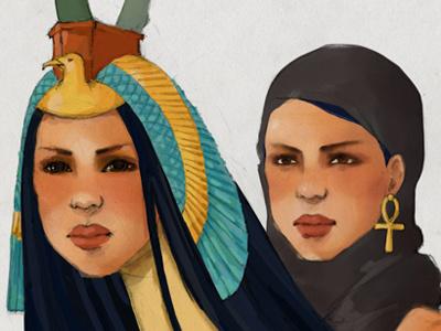 Sphinx illustration hand drawn myth