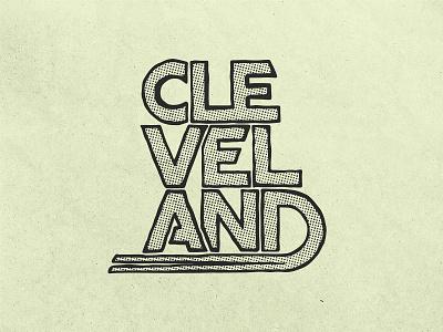 Cleveland Rocks cleveland lettering typography illustration design