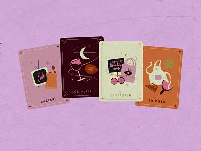 Weekend Tarot Cards tarotcards drawing inktober halloween illustration design