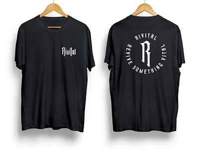 Rivital production team shirt design rivital brand clothing label clothing line clothing brand tshirt shirt design illustration clothing logo clean apparel branding