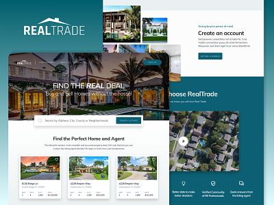Real Estate Landing Page Design web design ui home buying agent real estate agent realtor residential realtrade real estate