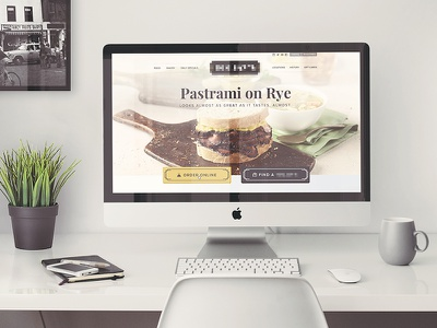 Pastrami on Rye anyone? homepage online ordering desktop deli sandwich food restaurant