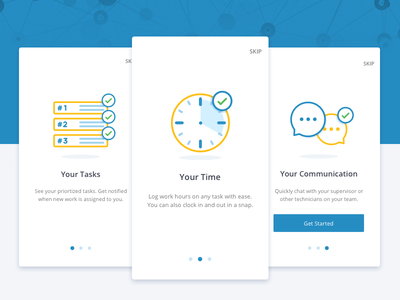 Onboarding Cards android
