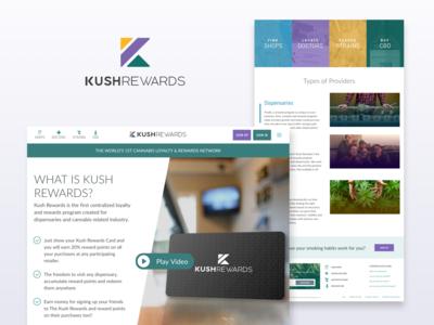 Kush Rewards Homepage Design