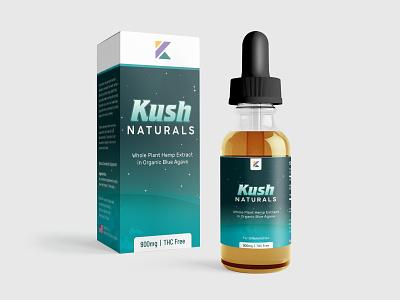 Kush Natural CBD tincture and packaging design. hemp tincture cannabis kush product design packaging product packaging branding