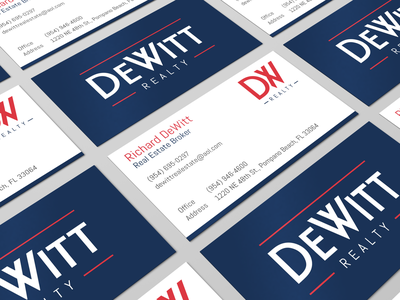 Dewitt Realty Business Cards business card design branding realty realtor business card
