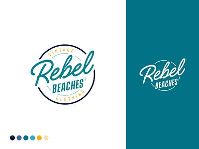Rebel Beaches Brand Identity vintage clothing beaches rebel vintage graphic design logo brand identity identity branding