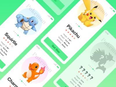 Pokemon design ui interface