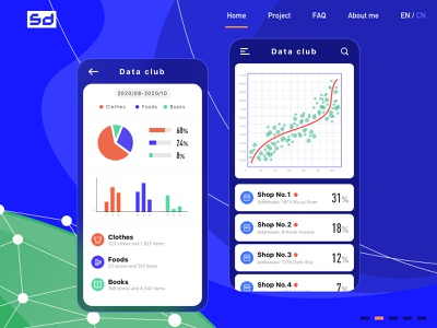 Big data web design - 2 design ui interface