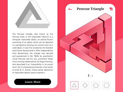 Penrose Traingle design ui interface animation