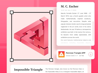 Penrose Traingle design ui interface illustration