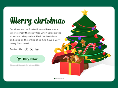 Christmas deals online ui design illustration interface