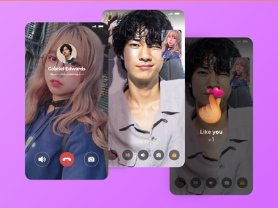 Video Chat ui design interface