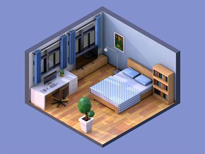 3D Room design c4d