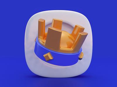 3D Crown Icon design icon c4d