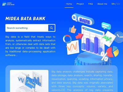 MIDEA DATA BANK design ui c4d 3d
