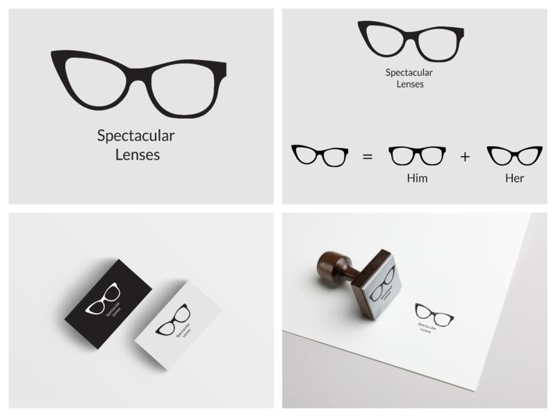 Spectacular Lenses Logo vector art minimal logo branding adobe lenses brand design flat illustrator illustration