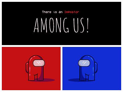Among Us! design behance art vector color minimal adobe illustration impostor amongus illustrator flat