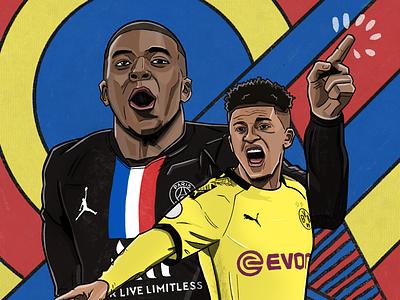 Dortmund vs. PSG sancho dortmund mbappe psg champions league