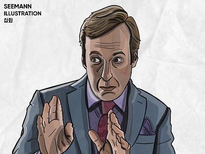 Saul Goodman amc tv series netflix illustration portrait breaking bad better call saul saul goodman