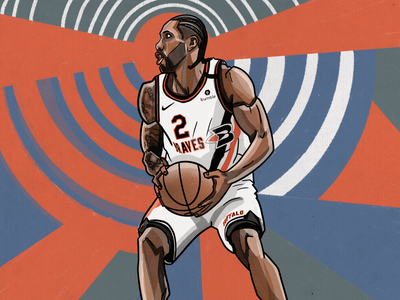 Kawhi Leonard Illustration braves clippers basketball illustration nba kawhi leonard kawhi