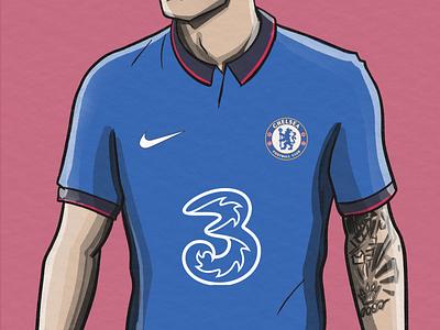 Chelsea Concept Kit football kit kit football illustration sports soccer football illustration pulisic