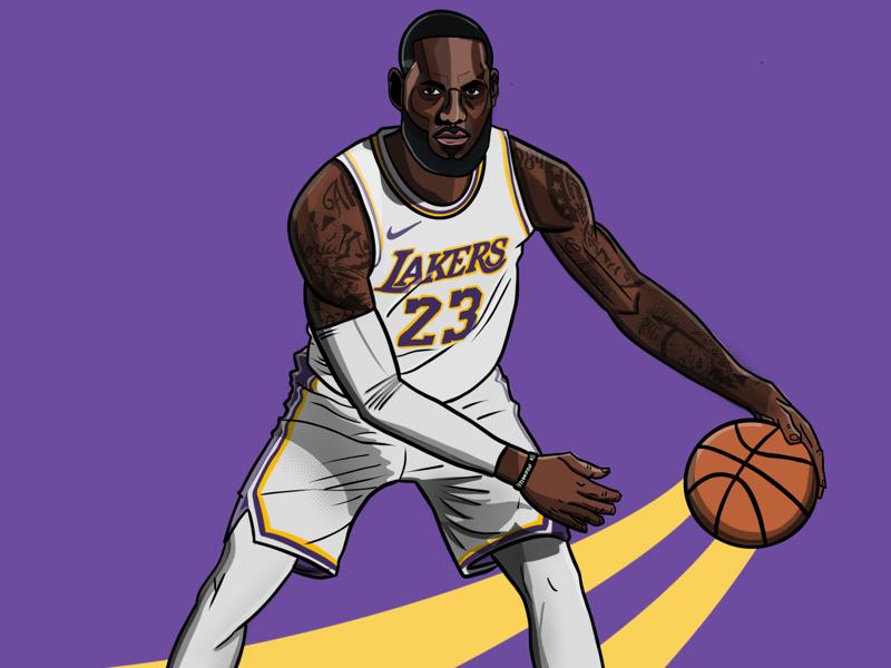 LeBron James lakers. los ángeles la illustration basketball lebron
