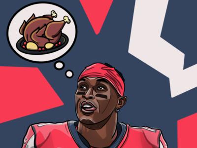 Julio Jones Thanksgiving Special NFL for Sideline App