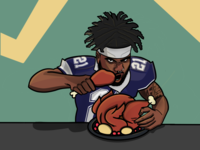 Feed Zeke Thanksgiving NFL Special for Sideline App