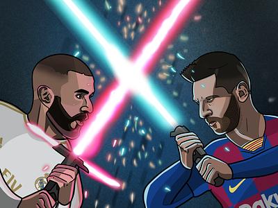 El Clásico Star Wars messi real madrid barcelona el clásico football star wars