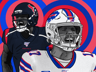 I did this for Sideline app portrait illustration football texans bills nfl