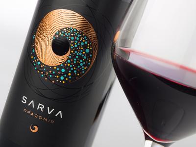 Sarva wine label design by the Labelmaker dragomir estate winery sarva wine branding strategic branding wine packaging wine label wine label design best wine label wine jordan jelev the labelmaker