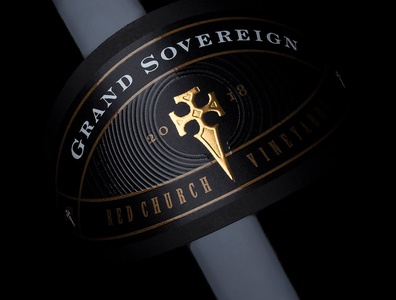 The Sovereign of Red Church Estate logo wine wine branding wine packaging strategic branding jordan jelev best wine label wine label the labelmaker wine label design
