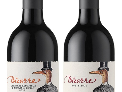 Bizarre Wines  (c) 2009-2020 lettering wine branding strategic branding wine label wine packaging wine label design calligraphy best wine label jordan jelev the labelmaker