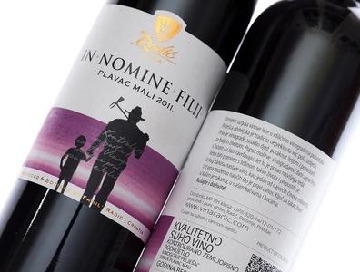 Radic wine label design illustration lettering strategic branding wine branding wine label wine packaging wine label design best wine label jordan jelev the labelmaker