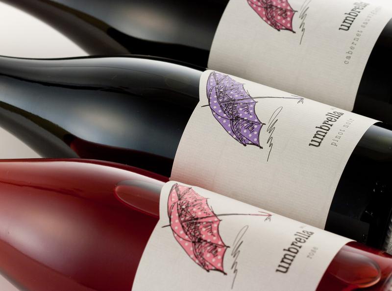 Umbrella wine label design strategic branding illustration lettering wine label wine branding wine packaging calligraphy wine label design best wine label the labelmaker