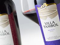 Villa Yambol wine label design
