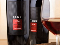 Tank 26 wine label design by the Labelmaker