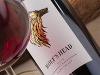 Wolf's Head wine label design