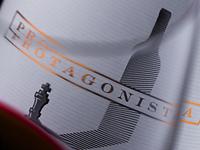 Protagonista amazing wine label