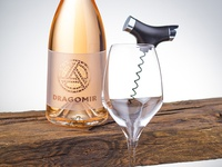 Dragomir Rose Wine Label Design by the Labelmaker