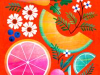 Bright foods & florals