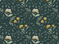 Botanical Winter Pattern
