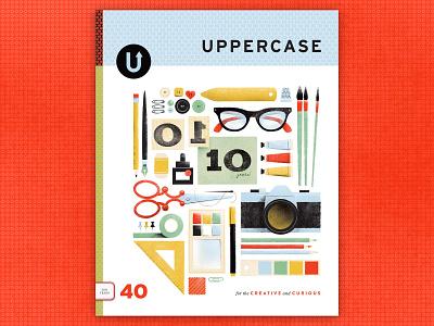 Cover Contest colors scissors glasses camera publication uppercase supplies art tools illustration