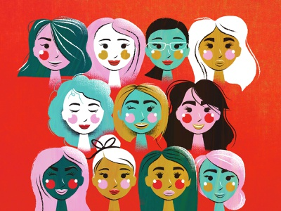 Hello Ladies ladies women people illustration
