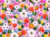 Strawberry Sunshine Pattern