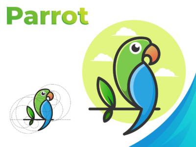 Parrot bird illustrotion vector ui logotype design branding icon logo design logo