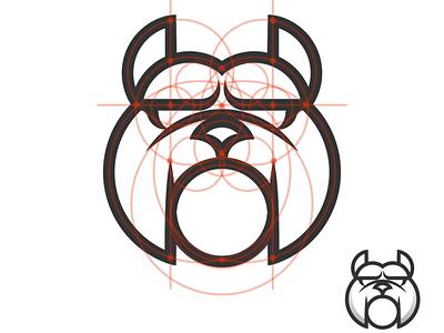 bulldog goldenratio gridsystem logo design brand design logodesign minimal vector corporate branding design logo illustration branding