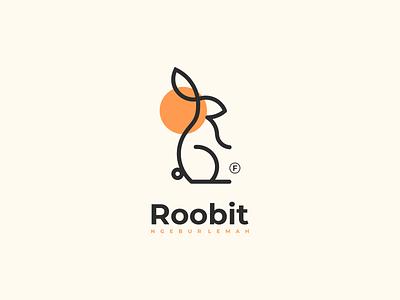 roobit logo brand design lettering logo design minimal corporate branding vector design logo illustration branding